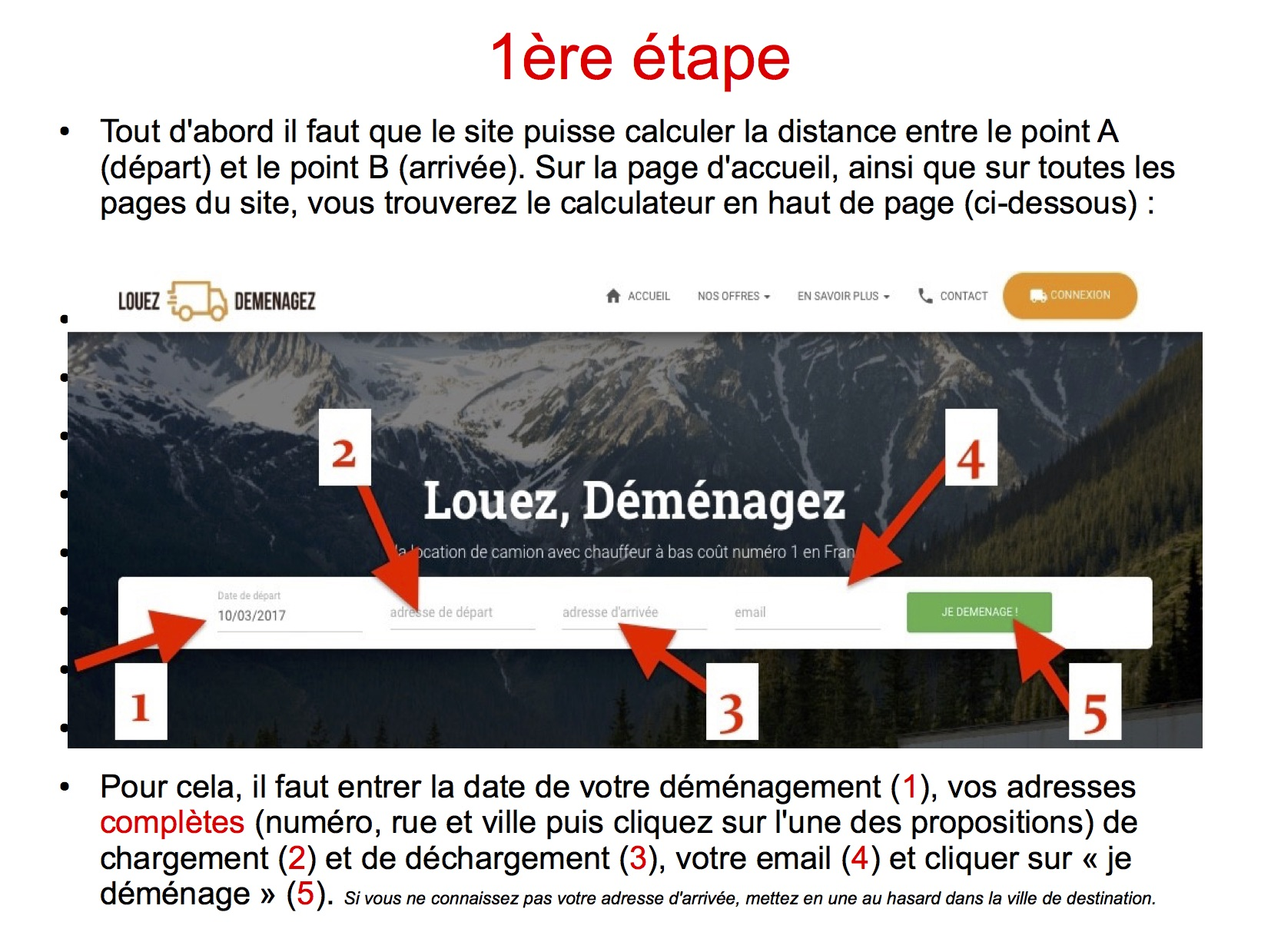 Processus de reservation en 5 tapes simple et rapides for Calculer son volume de demenagement