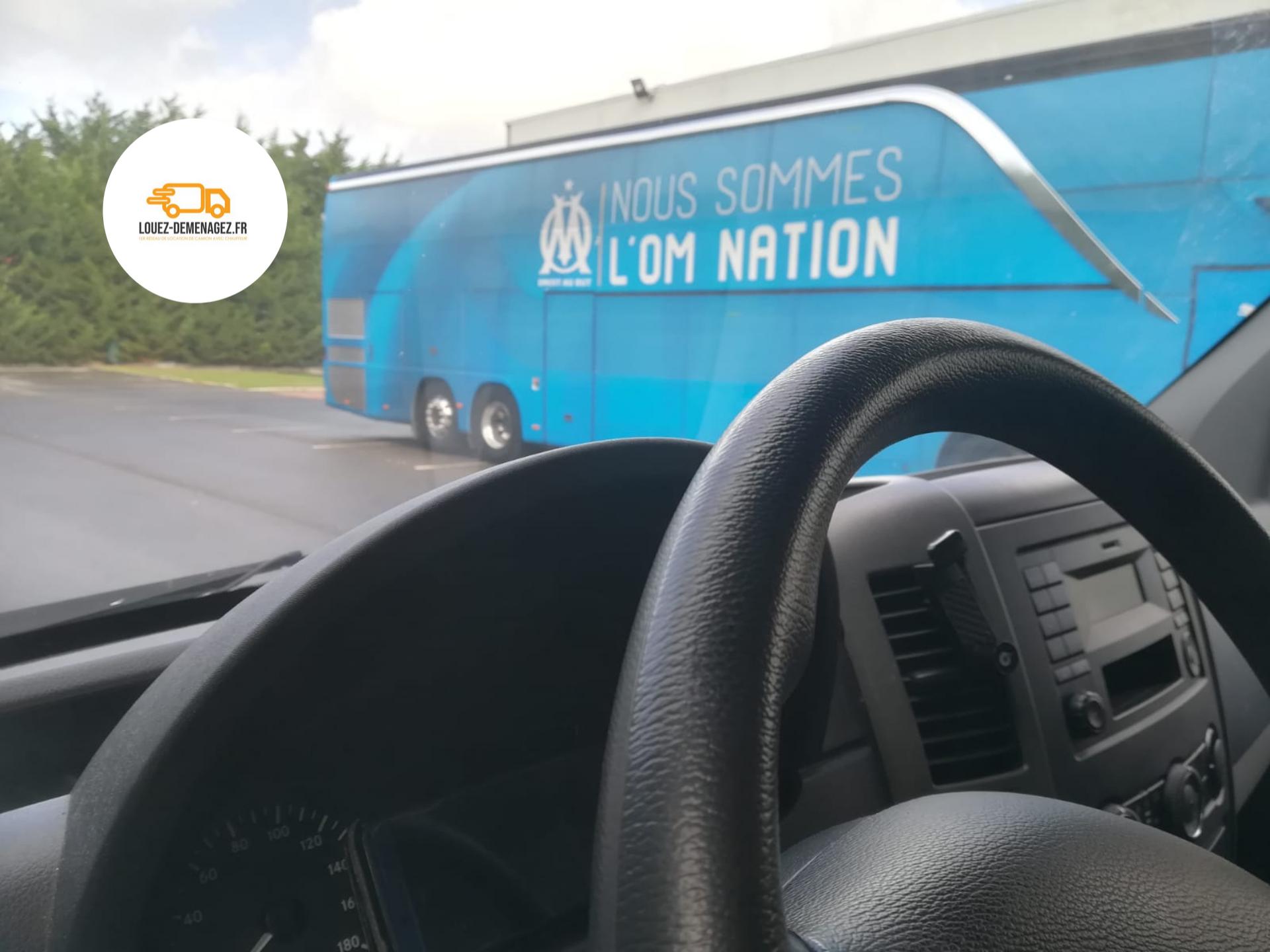 camion chauffeur pour club de foot